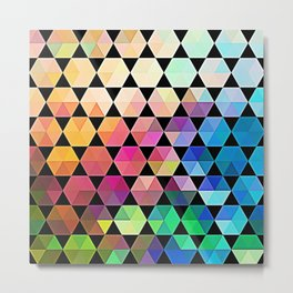 Bold Hexagon Metal Print