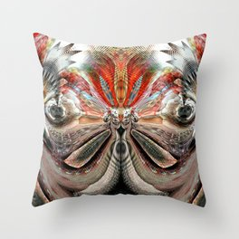 the snorting...... Throw Pillow