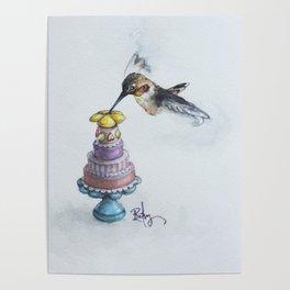 Rufio The Hummingbird Takes The Cake Poster