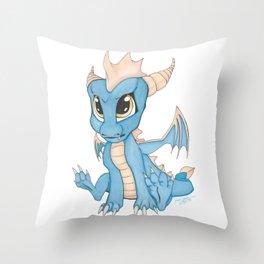 Blue Dragon Chibi Throw Pillow