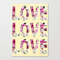 all you need is love Canvas Prints featuring ALL YOU NEED IS LOVE by Artisimo