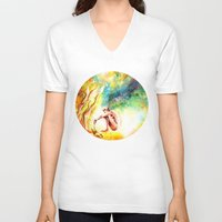 fishing V-neck T-shirts featuring FISHING by danyDINIZ