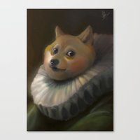 doge Canvas Prints featuring Sir Doge by Artspell