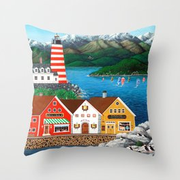 Puffin Point Throw Pillow
