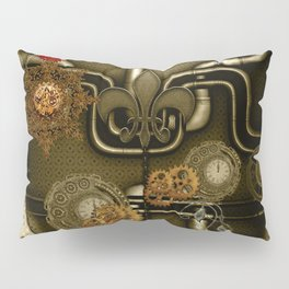 Wonderful noble steampunk design Pillow Sham