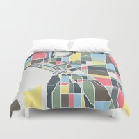 seattle Duvet Covers featuring Seattle. by Studio Tesouro