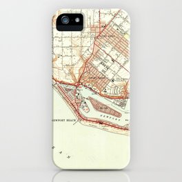 Vintage Map of Newport Beach California (1951) iPhone Case