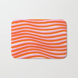 electric zebra stripes Bath Mat
