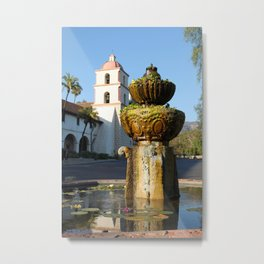 Santa Barbara Mission Metal Print