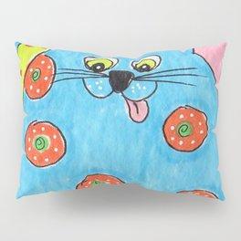 Blue Fat cat Pillow Sham