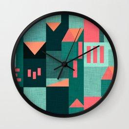 Teal Klee houses Wall Clock