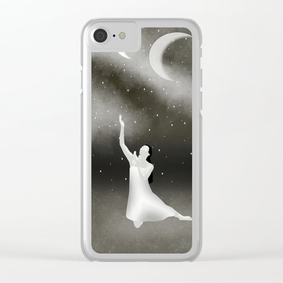 Worshipping the Moon Clear iPhone Case