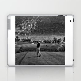 Broken Glass Sky - Black and White Version Laptop & iPad Skin