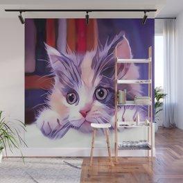 Cat Window Perch Wall Mural