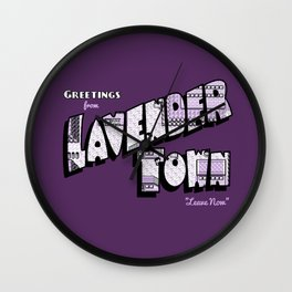 Greetings from Lavender Town Wall Clock