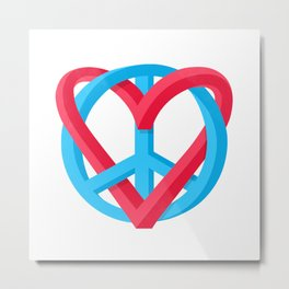 Peace + Love Metal Print