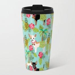 Chihuahua hawaii hula tropical island pineapple dog breed chihuahuas pet pattern Travel Mug