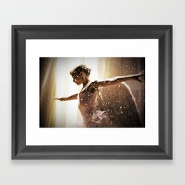 Angel Ballerina Framed Art Print