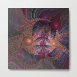 Colorful Abstract Fractal Metal Print
