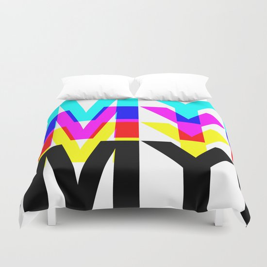 CMYK ON WH Duvet Cover