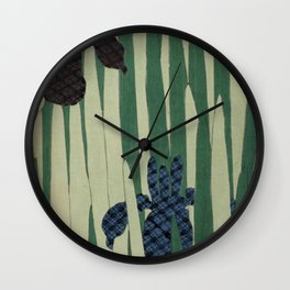 Japanese Iris Wall Clock