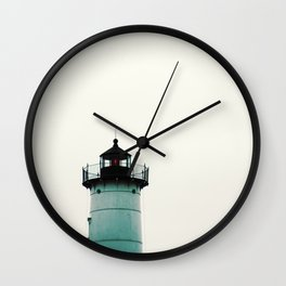 Blue Lighthouse Wall Clock