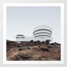 Misplaced Series - Solomon R Guggenheim Museum Art Print