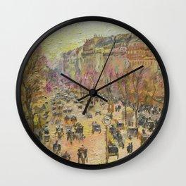 Paris, Boulevard Montmartre, a copy Wall Clock