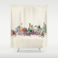 vancouver Shower Curtains featuring Vancouver  by bri.buckley