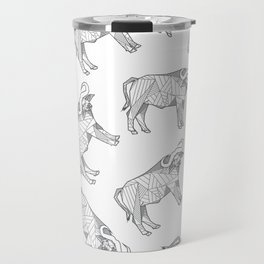 African Animals - Buffalo White Travel Mug