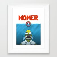 homer Framed Art Prints featuring HOMER by BC Arts
