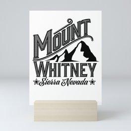 Mount Whitney Sierra Nevada Mini Art Print