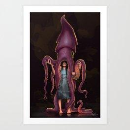 Squid Gir Art Print