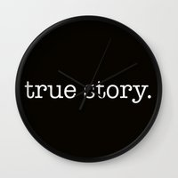 himym Wall Clocks featuring True Story by bravo la fourmi
