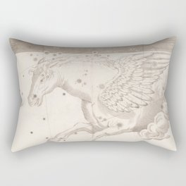 Johann Bayer - Uranometria / Measuring the Heavens (1661) - 19 Pegasus Rectangular Pillow