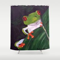 pablo picasso Shower Curtains featuring Pablo by Melanie Russo