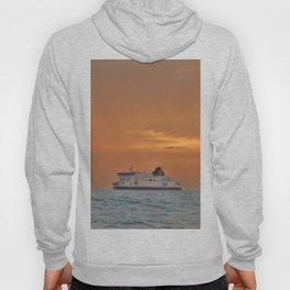Ferry At Sunrise Hoody