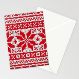 Winter knitted pattern 6 Stationery Cards