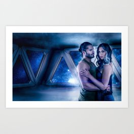 Terry and Char in Space Art Print