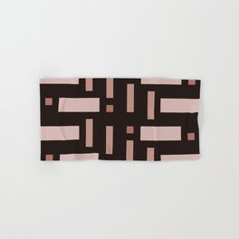 Pattern of Squares in Brown Hand & Bath Towel