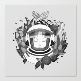 Pearl Space Race - BnW Canvas Print