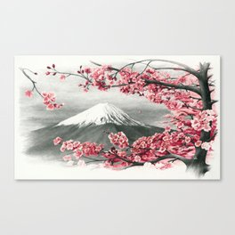 Mount Fuji and Cherry Blossoms Canvas Print