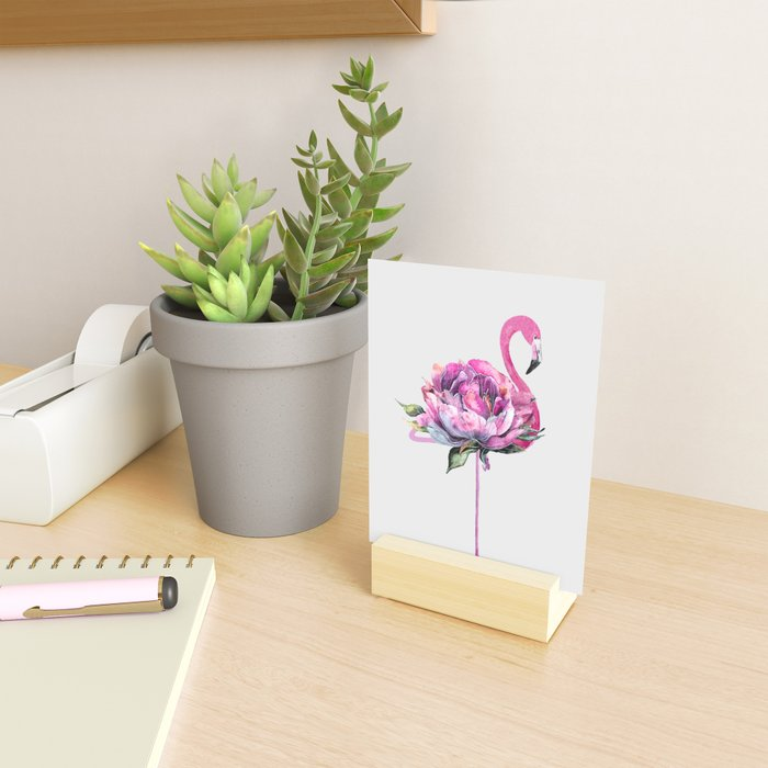 Flower Flamingo Mini Art Print