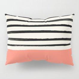Coral x Stripes Pillow Sham