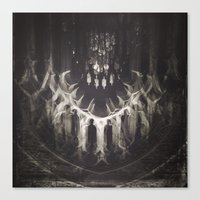 teeth Canvas Prints featuring Teeth by Concrete Muse