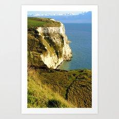 Chalky White Cliffs  Art Print