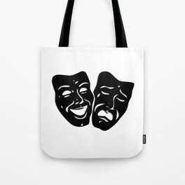 Theater Masks of Comedy and Tragedy Tote Bag
