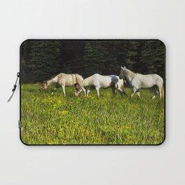 Horses In a Field Laptop Sleeve