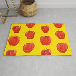 Red Remarkable Apple Pattern Rug