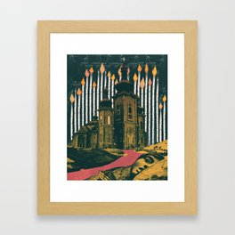 Sleep, those little slices of death Framed Art Print